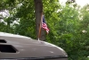 new refinished flag pole and new skeggard